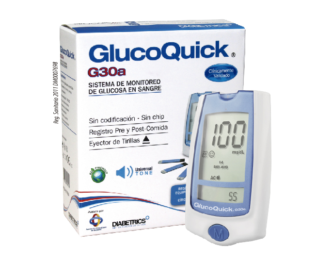 GlucoQuick G30a: Sistema de monitoreo de glucosa en sangre