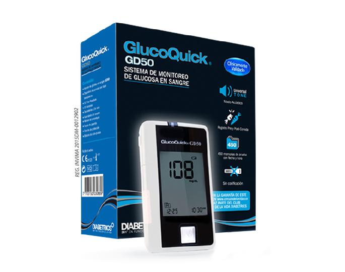 Glucoquick GD50: Sistema de monitoreo de glucosa en sangre